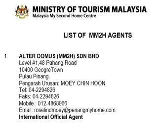 MM2H Agent List in Malaysia